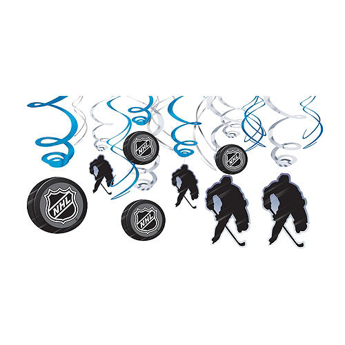 Nav Item for NHL Swirl Decorations 12ct Image #1