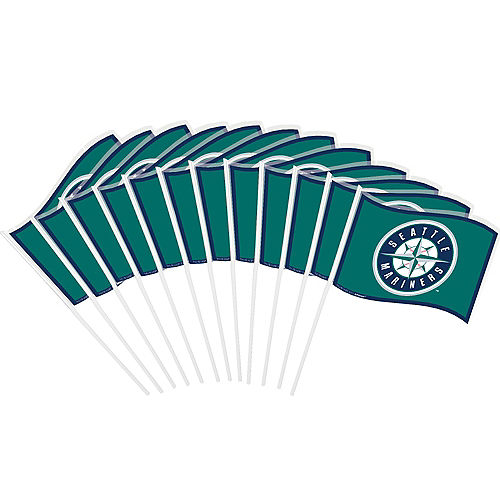 Seattle Mariners Mini Flags 12ct Image #1