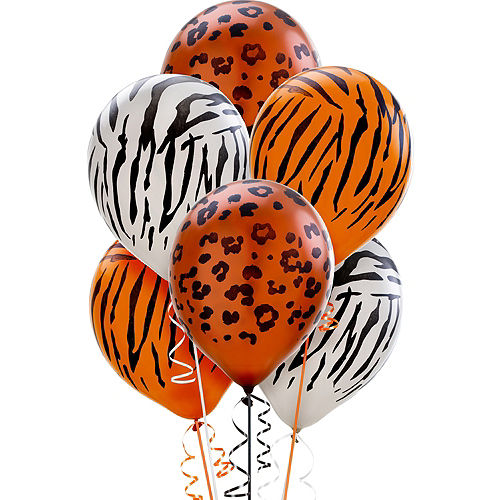 Animal Print Pearl Balloons 20ct, 12in Image #1