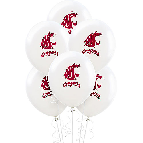 Washington State Cougars Balloons 10ct Image #1