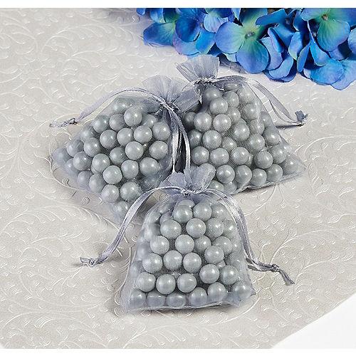 Silver Organza Favor Bags Image #1
