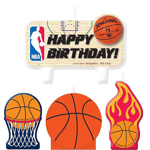 Spalding Basketball Birthday Candles 4ct Image #1
