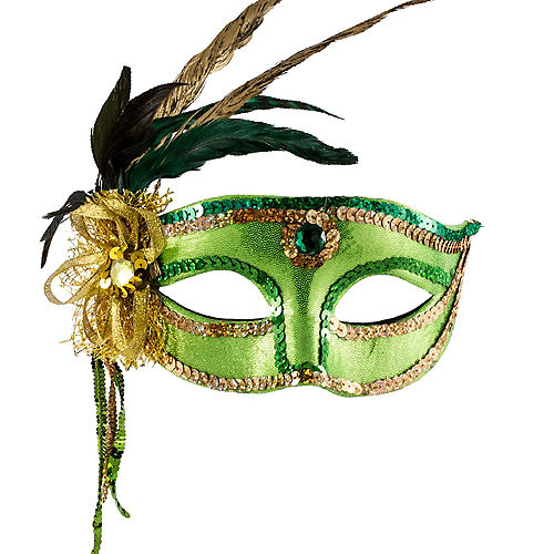 Woodland Fairy Feather Mask Image #1