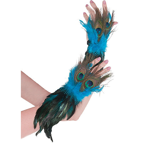 Peacock Feather Gloves Image #1
