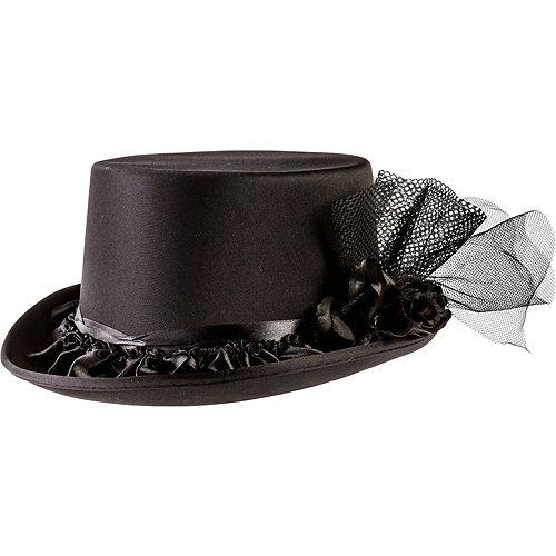 Black Rose Top Hat Image #1