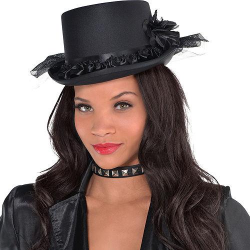 Black Rose Top Hat Image #2