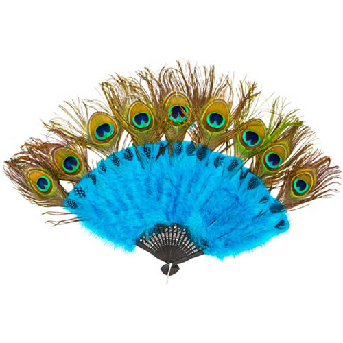 Peacock Feather Fan & Tail Accessory Image #1