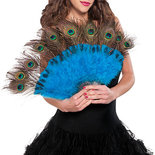 Peacock Feather Fan & Tail Accessory Image #2