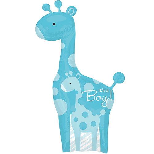 Blue Wild Safari It's a Boy Baby Shower Balloon Image #1