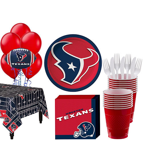 Super Houston Texans Party Kit for 18 Guests Image #1