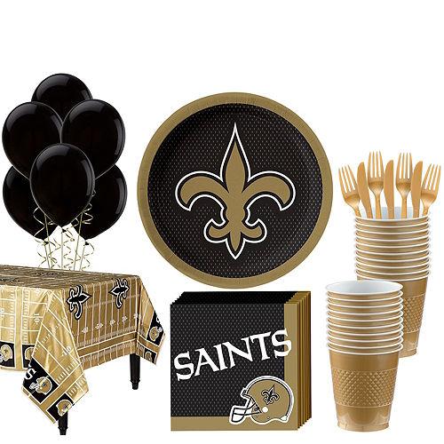 Super NFL New Orleans Saints Party Kit for 18 Guests Image #1