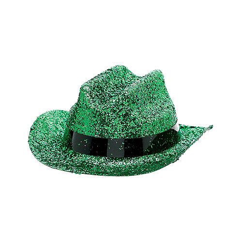 Green Glitter Mini Cowboy Hat Image #2