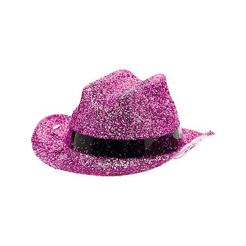 Pink Glitter Mini Cowboy Hat Image #2