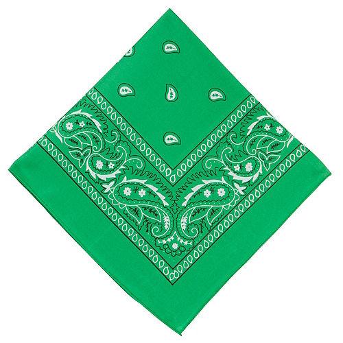 Green Paisley Bandana, 20in x 20in Image #1