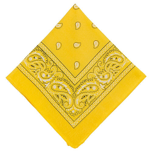 Yellow Paisley Bandana, 20in x 20in Image #1