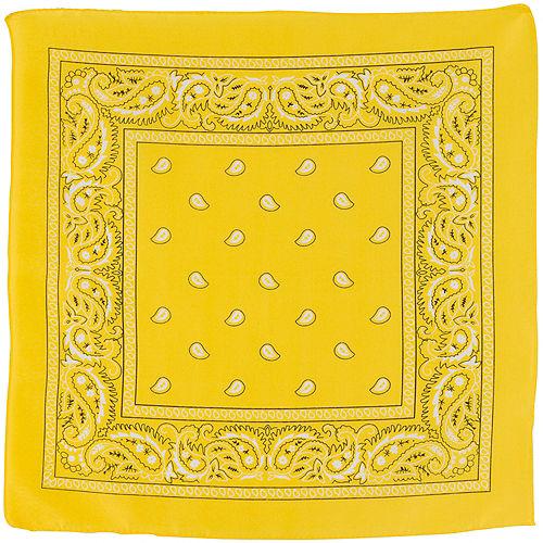 Yellow Paisley Bandana, 20in x 20in Image #2