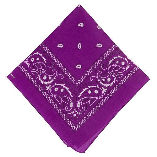 Purple Paisley Bandana, 20in x 20in Image #1