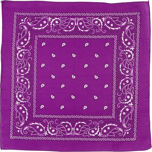 Purple Paisley Bandana, 20in x 20in Image #2
