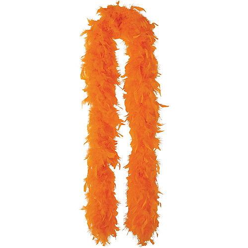 Orange Feather Boa Image #1