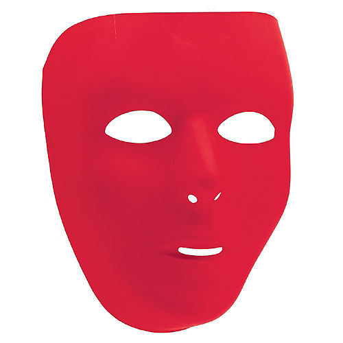 Red Face Mask Image #1