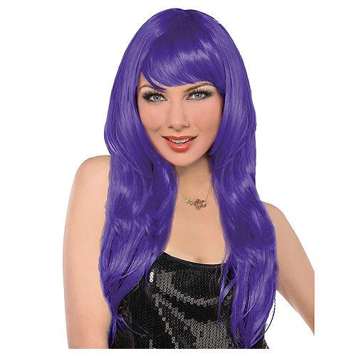 Glamorous Long Purple Wig Image #1