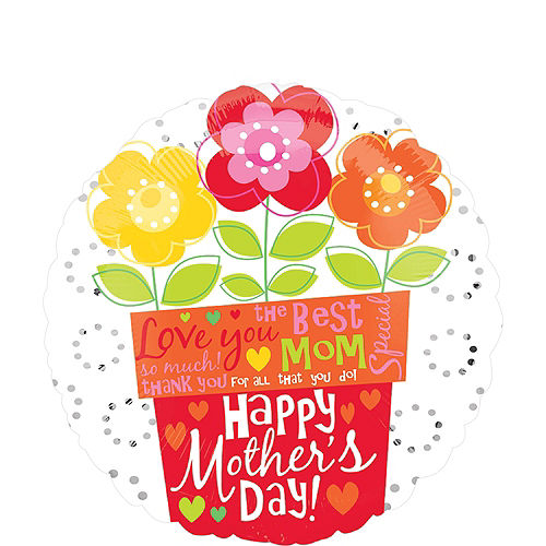 Mother's Day Flower Pot Balloon, 18in Image #1