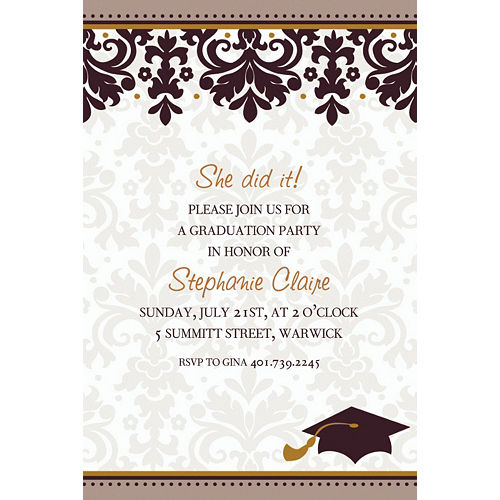 Custom Black & White Graduation Invitations  Image #1