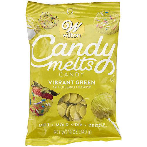Wilton Vibrant Green Candy Melts Image #1