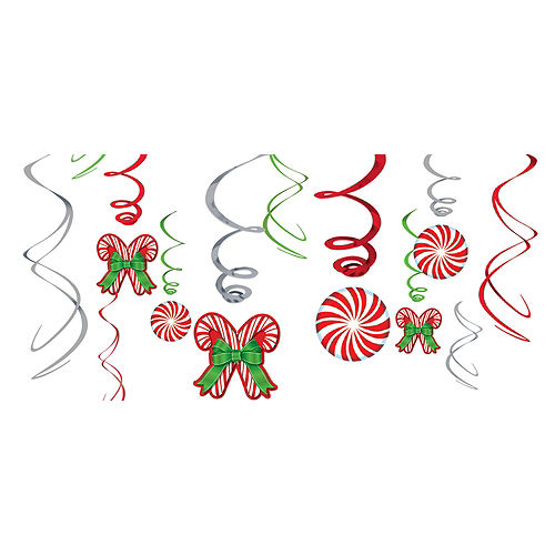 Candy Cane Swirl Decorations 12ct Image #1