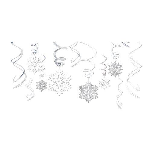 Snowflake Swirl Decorations 12ct Image #1