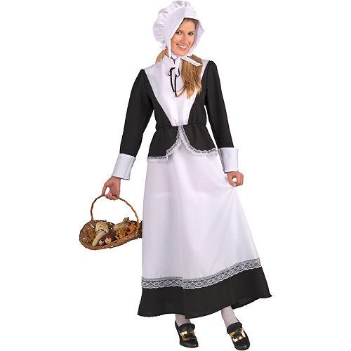 Adult Pilgrim Woman Costume Image #1