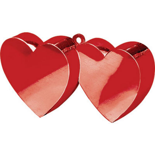 Red Double Heart Balloon Weight Image #1