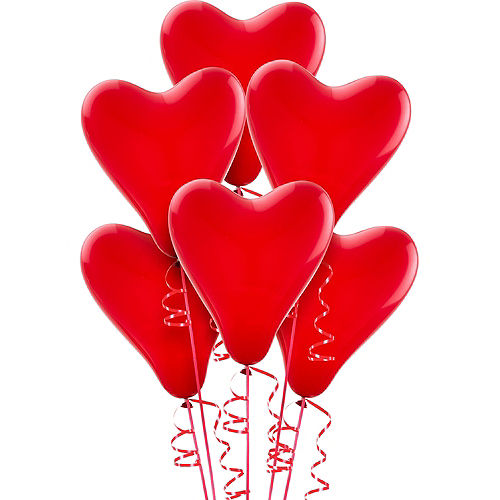 Red Heart Balloons 6ct Image #1