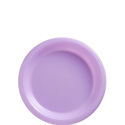 Lavender Plastic Dessert Plates 20ct Image #1