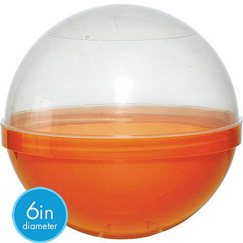 Orange Ball Favor Container 12ct Image #2