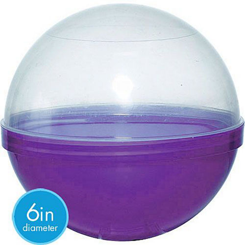 Purple Ball Favor Containers 12ct Image #2
