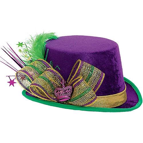 Fabric Mardi Gras Top Hat Image #1