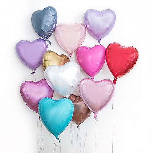17in White Heart Balloon Image #2