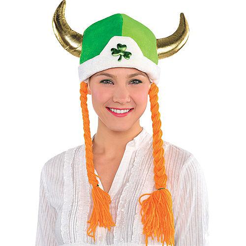 Shamrock Viking Hat with Braids Image #2
