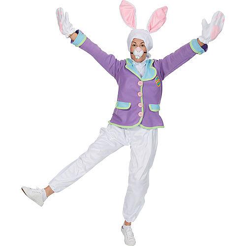 Adult Purple Bunny Costume Image #3