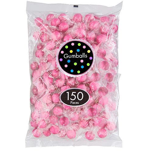 Bright Pink Gumballs 150pc Image #1