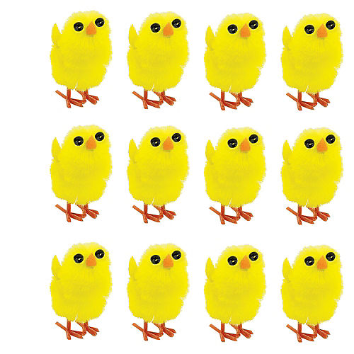 Chenille Easter Chicks 12ct Image #1
