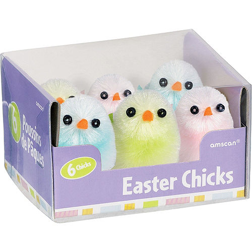 Multicolor Chenille Easter Chicks 6ct Image #2