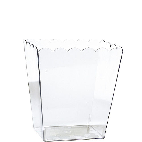 Small CLEAR Plastic Scalloped Container Image #1