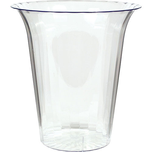 CLEAR Plastic Flared Cylinder Container Image #1
