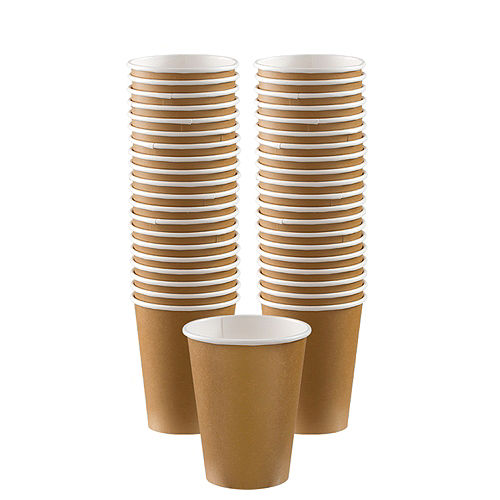 Gold Paper Coffee Cups, 12oz, 40ct Image #1