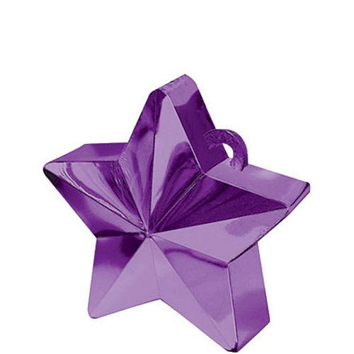 Purple Star Balloon Weight Image #1