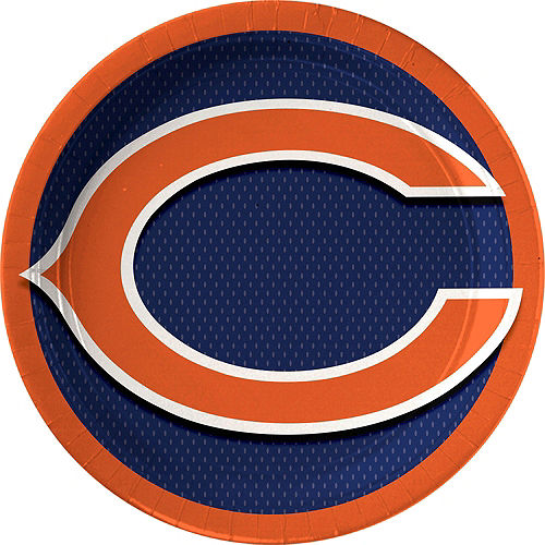 Chicago Bears Lunch Plates 18ct Image #1