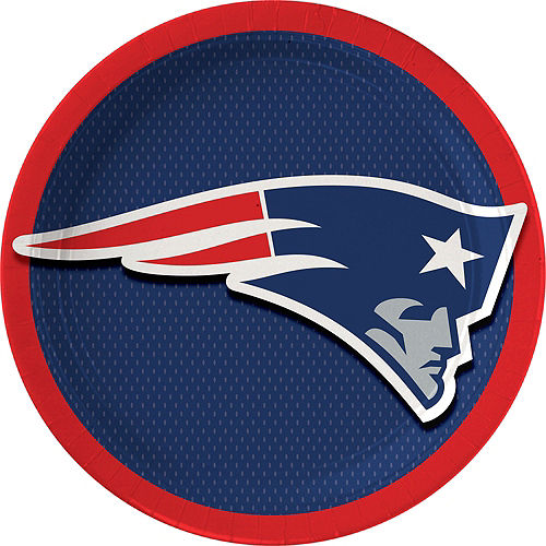 New England Patriots Lunch Plates 18ct Image #1