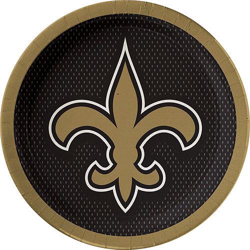 New Orleans Saints Lunch Plates 18ct Image #1